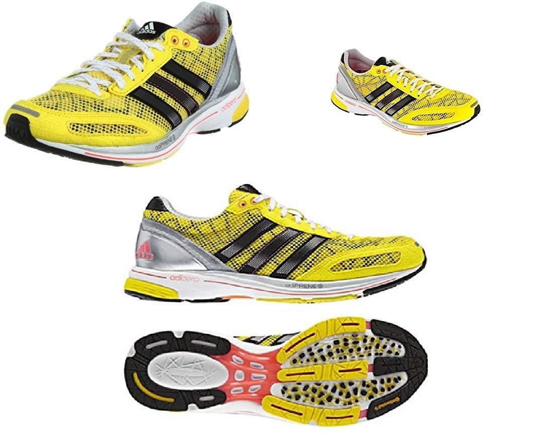 size 40 a4d00 57b26 Get Quotations · Adizero Mens YellowBlack Adios 2 Running Shoe 6 ...