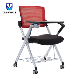folding school study chairs with writing pad training room chairs with writing pad