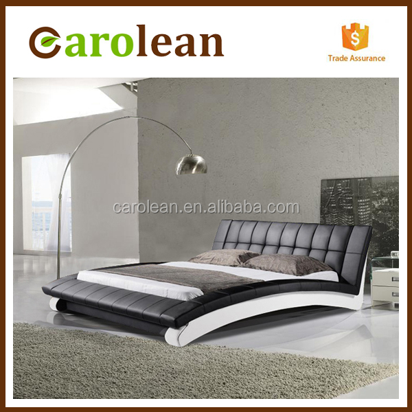 C306 modern california king bed size, king size leather bed