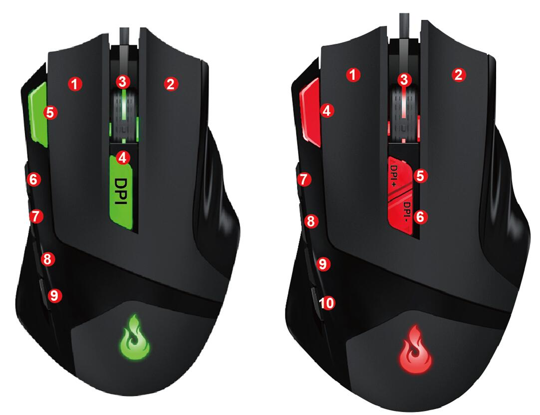 9D gaming mouse with factory price private tooling mouse gaming mouse  optical