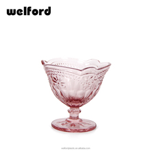 Roze Kleur Reliëf Ijs Glas <span class=keywords><strong>Kom</strong></span>