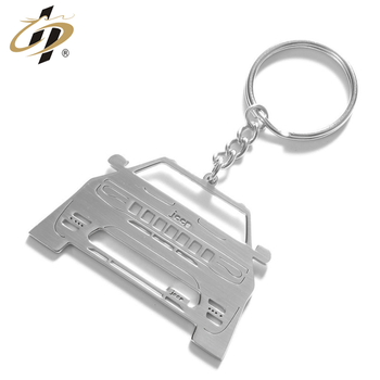 Originality 3D Promotional silver custom jeep shaped High quality stainless steel keychains