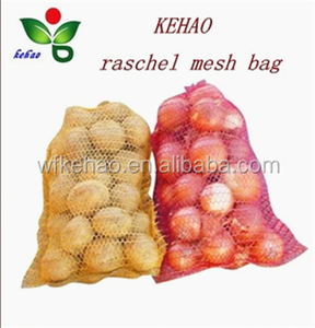 red orange onions raschel mesh bag