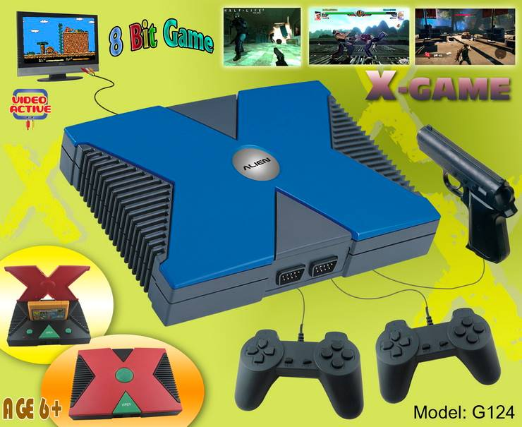 Entertainment game station 8 bit TV X- game box retro game console ,AV cable plug into TV directly