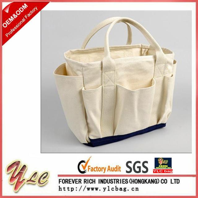 Beau 2017 Custom Logo Durable Man Canvas Garden Tool Bag For Gardener