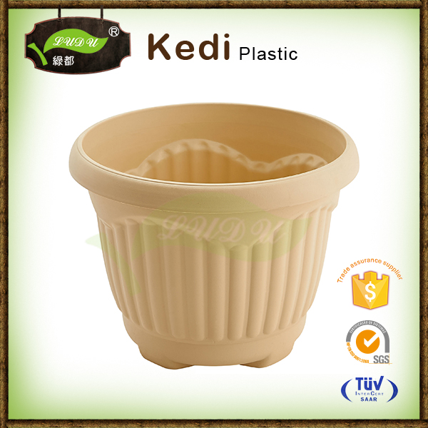 Save 10% free sample premium desktop plastic flower pot PP injection moulding plastic plant pot with hanger