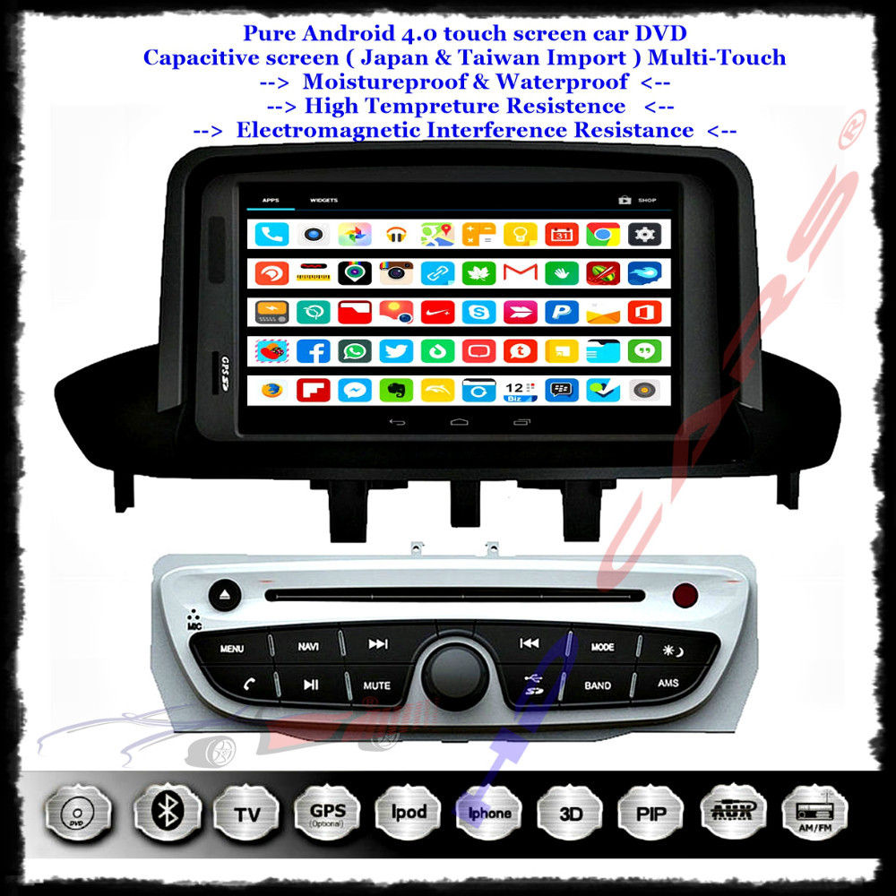 fit 4 renault fluence megane ii iii android 4 1 car dvd player in dash 3g wifi gps 7hd. Black Bedroom Furniture Sets. Home Design Ideas