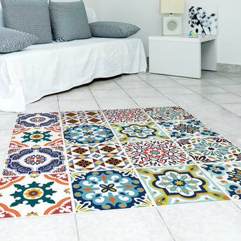 3d Moroccan Style Printing Waterproof And Anti Slip Resistant Twill Film  Floor Is Decorated With Green Stickers   Buy Wall Stickers,Floor Lamination  ...