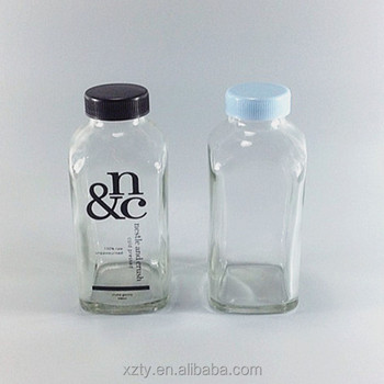 4081b2c89723 French square glass bottle 16oz with cap, View square bottles, XH Product  Details from Xuzhou Xiahua Glass Products Co., Ltd. on Alibaba.com