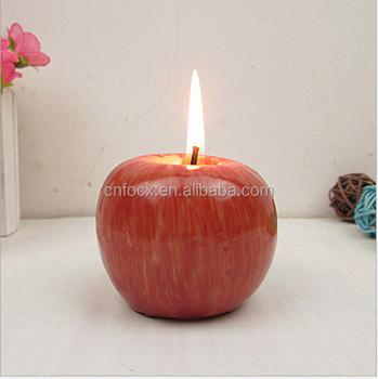 En Gros Noel Bougie En Forme De Pomme Belle Bougie Decorative Buy