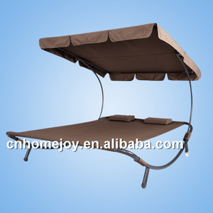 Hot sale double sun lounger with canopy,pool sun loungers with wheels