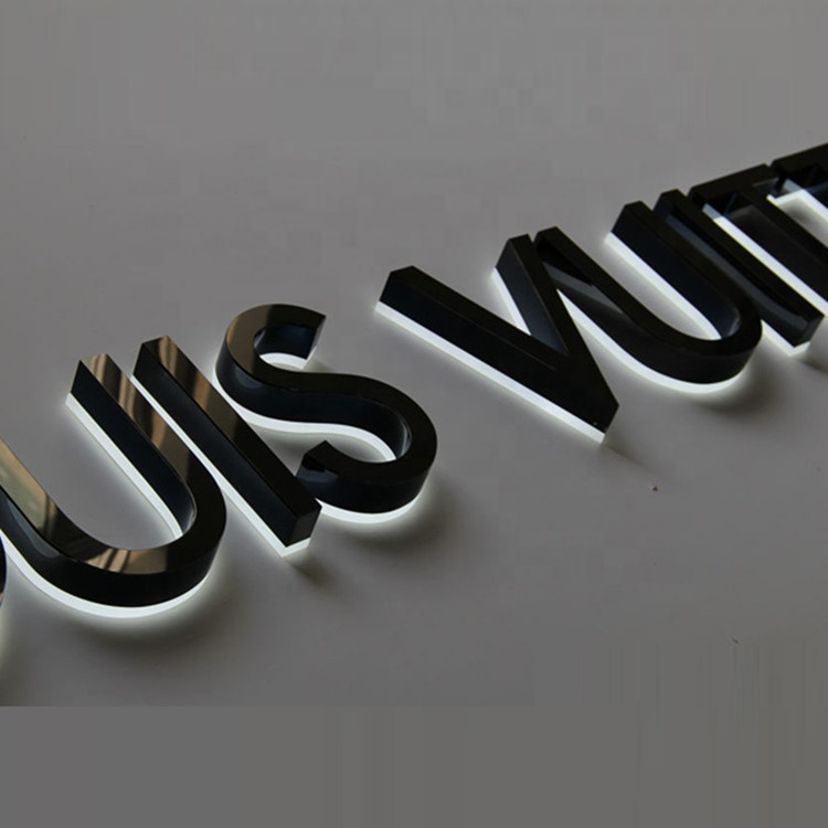 Electronic Lighted Backlit Sign Laser Cut Acrylic Letters