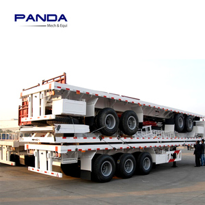 3 Axles Chassis 40ft Container Trailer for 2x20ft Containers Transportation with 60 Tons Capacity