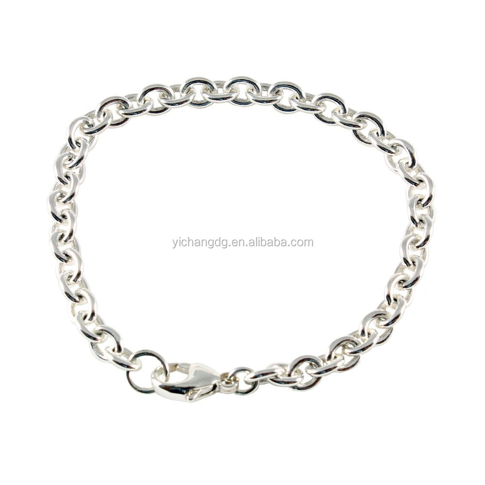 Dubai Cheap Single Link Charm Bracelets Clasp Fastening Three Sizes Available Bracelet for Wholesale