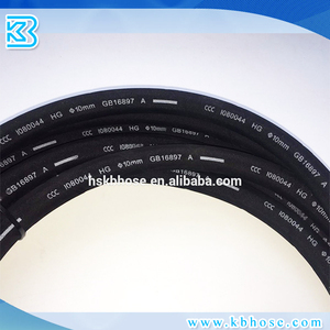 SAE J1402 Air Brake Flexible EPDM Black Rubber Hose And Assembly Size 3/8'' 1/2''