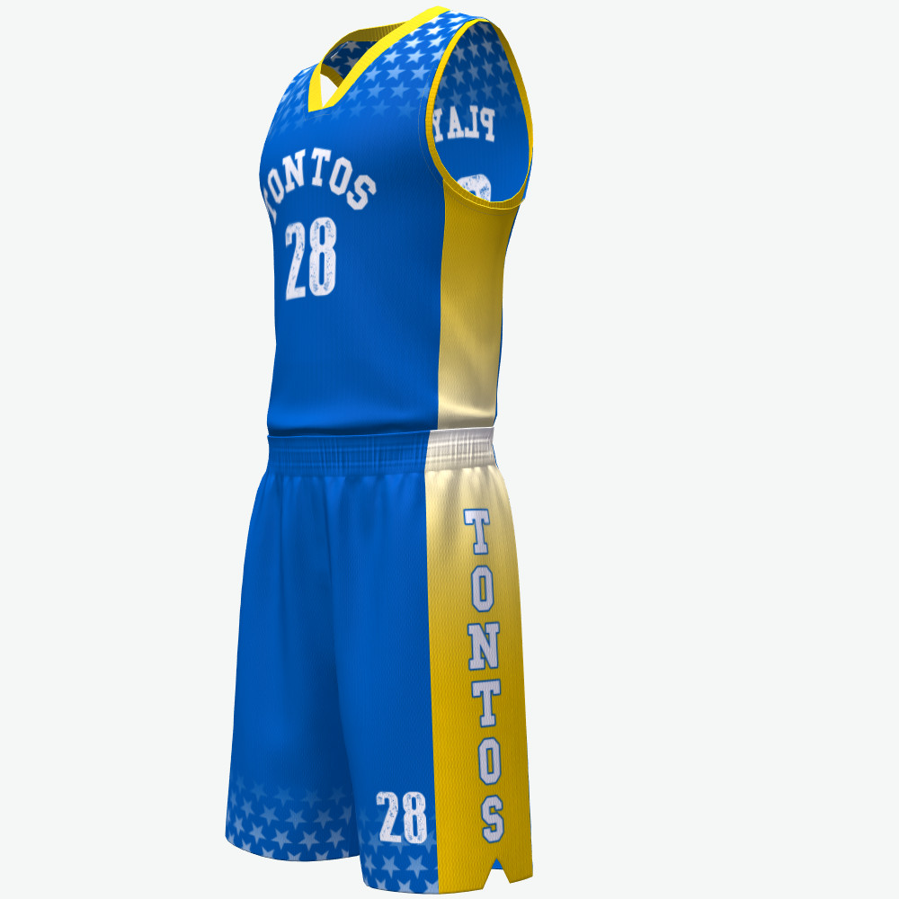 b8a6182db6c Cheap sublimation custom pattern uniform set jersey basketball jersey  uniform design color blue