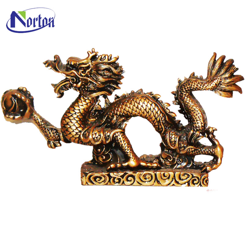 Antique table decorated bronze Chinese dragon statue NTBA-095Y