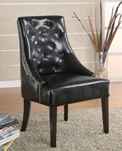 Coaster 900285 Classic Louis Style Accent Chair, Black