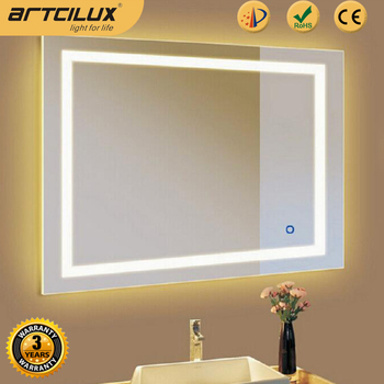 S1007 Artcilux Design On Off Function Mirror Touch Switch With Blue White Indicate Light