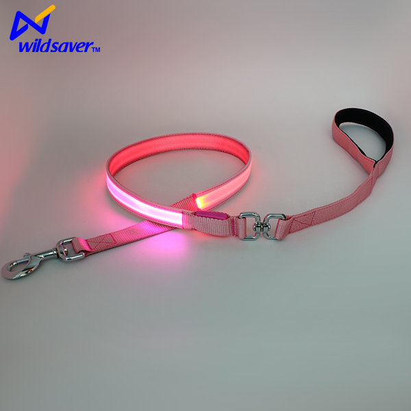 swivel for retractable dog leash led lighting with flashlight and bag