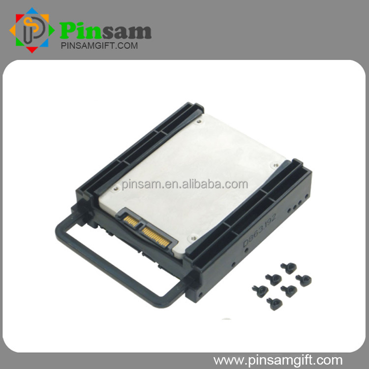 "Top quality Plastic Screws less Hard drive disk Bracket 3.5"" support Dual 2.5 inch HDD"