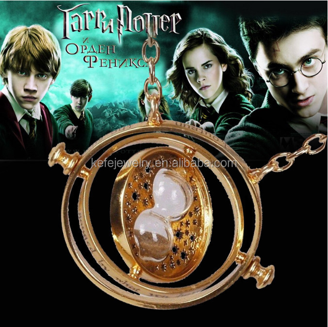 2015 <strong>Fashion</strong> Harry 18K Gold Plated Hermione Magical Big Time Turner Necklace