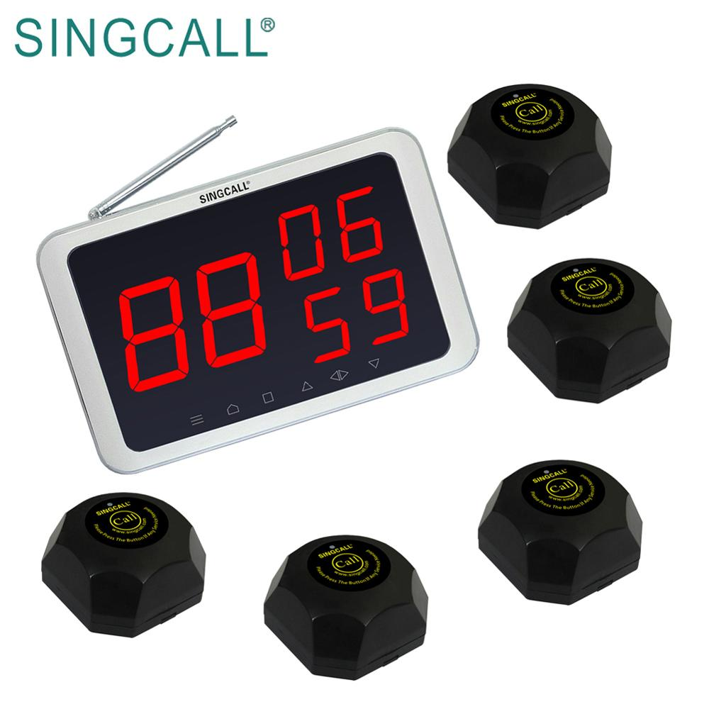 SINGCALL Restaurant Call Pagers Draadloze Paging Wachtrijsysteem