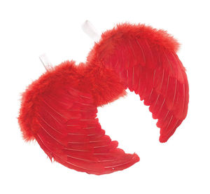 Feather Red Dark Angel Fairy Wings Halloween Fancy Dress Gothic Wing SD824
