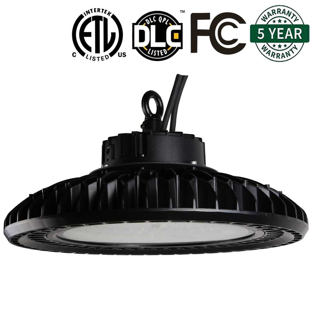 AntLux UFO LED High Bay Light - 200W (800W HID/HPS Replacement), 24000LM, 5000K, Dimmable (Optional), IP65 Waterproof, Warehouse lights, Industrial Area Workshop Hanging High Bay LED Lighting Fixtures