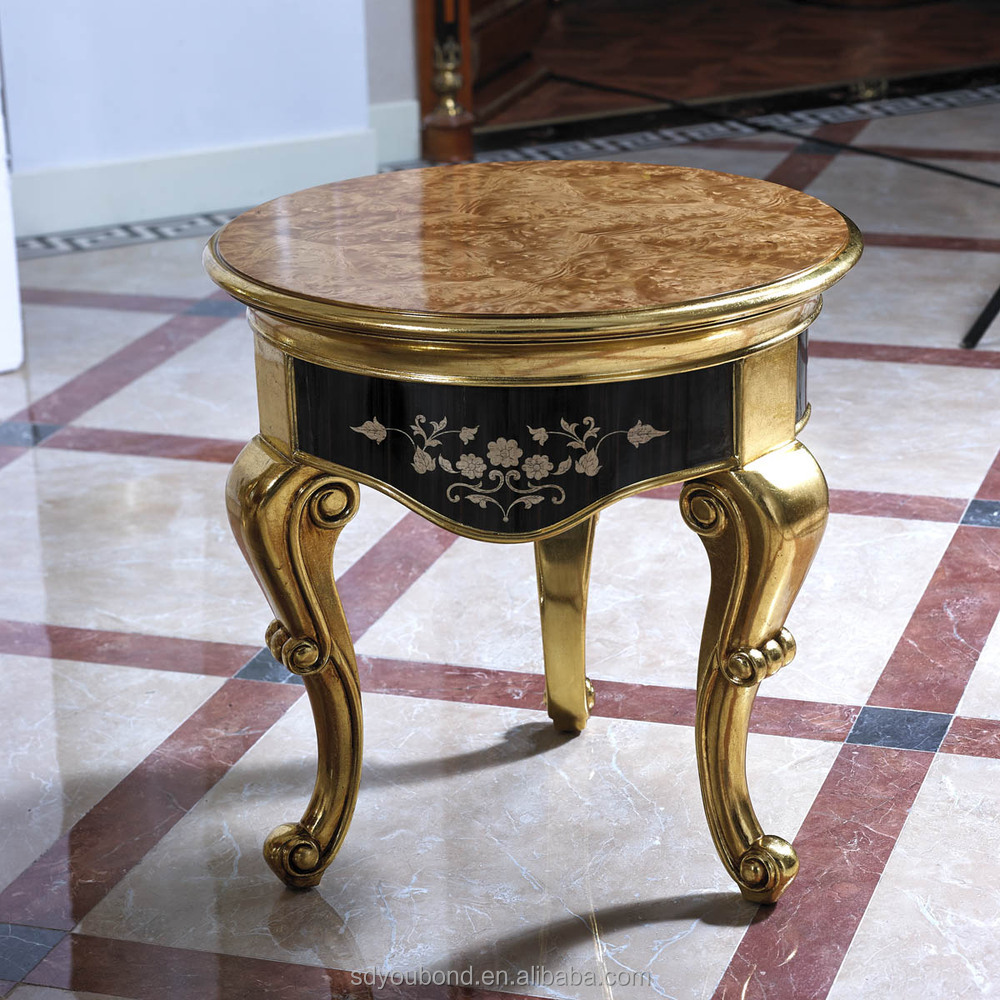 0061 European Antique Luxury Golden Living Room Furniture Design Wooden Coffee Table Buy