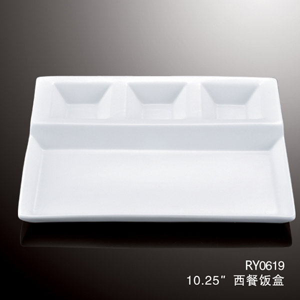 Hot Sale 4 In 1 White Square Porcelain Divided PlatesDinner Plates For RestaurantCharger Plates For Wedding - Buy Divided PlatesDinner Plates For ... & Hot Sale 4 In 1 White Square Porcelain Divided PlatesDinner Plates ...