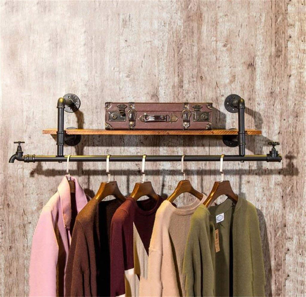 LAXF-Coat Racks LAXF-Wall Coat Racks with Hooks/Iron Wall Mounted Clothes Hanging for Home Clothing Store,Racks Display Stand,Wall Shelf, Display Shelves,Clothing Rack