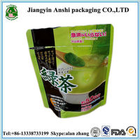 China suppier best offer zipper bag stand up plastic packing bag for green tea