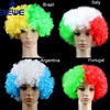 Good price new OEM color custom color cheap price good quality synthetic national curly flag afro soccer fans wig factory
