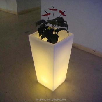 huis tuin potten kunststof pp zelf overheerlijke plantenbak plantenbakken geleid verlichte