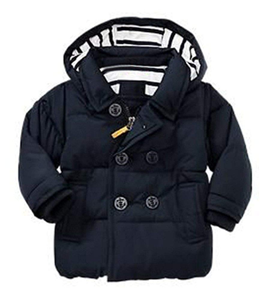 Get Quotations · Pxmoda Kids Autumn Winter Double Breasted Down Coat Unisex  Hooded Jacket 5b5520a0e