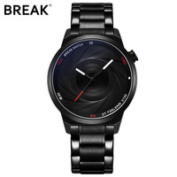 BREAK New Original Design Photographer Series Unique Men Unisex Sport Simple Quartz Creative Fashion Casual Watches