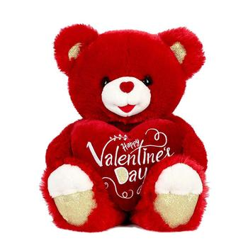 2020 Stuffed Animals Sweet heart Red Soft Happy Valentine's Day Plush Unicorn Teddy Bear Gifts for Girls