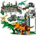 Jurassic World Park Dinosaur Raptor protection zone Building Blocks Toys juguetes Compatible With Legoe
