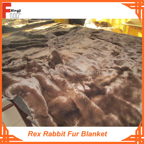 Good Price Real Fur Rex Rabbit Fur Throw