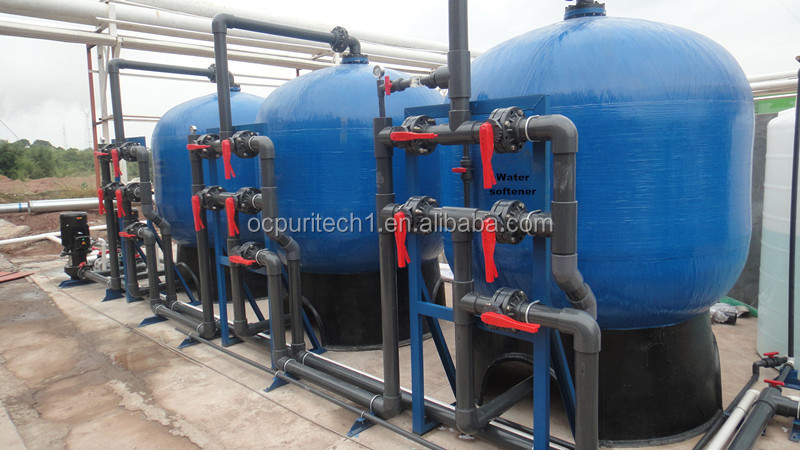 water filter water treatment plant with sand filter and carbon filter softener