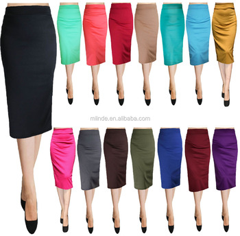 100% cotton long skirts Office White Bodycon Pencil style long denim skirts