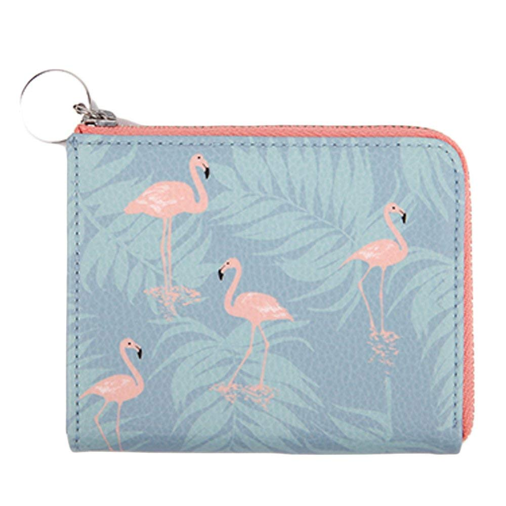 Zipper Credit ID Card Case Mini Wallet Coin Purse Slim Card Holder