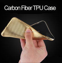 Luxury Carbon Fiber Design Electroplate TPU Cell Phone Case For Iphone 7