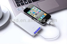 Promotional gift mobile power bank 6000 mah para turismo