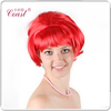 short straight Va Va Vamp red synthetic bob style wig