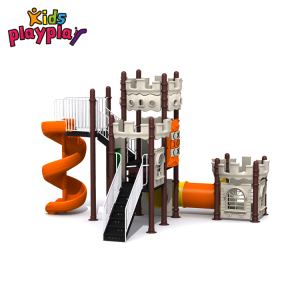 Happy Children Outdoor Playground with Slides Tree house series