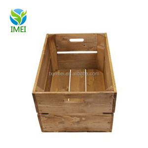 YM0794 hot selling cheap decoration unfinished wood wine crates wholesale