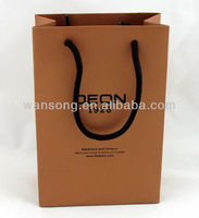 2015 luxury custom kraft paper bag, handbag with customized design