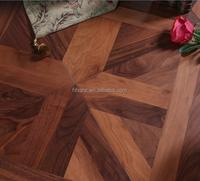 Factory Price Solid Black Walnut hardwood parquet flooring floating